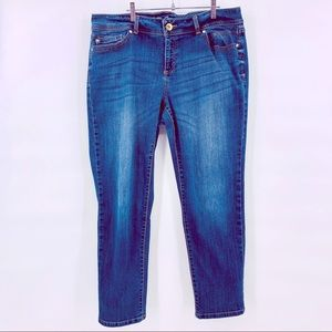 INC Skinny Leg Curvy Fit Denim Jeans Size 16S